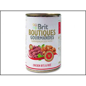 Konzerva BRIT Boutiques gourmandes chicken bits & paté 400g