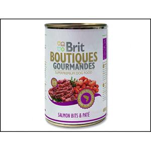 Konzerva BRIT Boutiques gourmandes salmon bits & paté 400g
