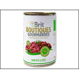 Konzerva BRIT Boutiques gourmandes lamb bits & paté 400g