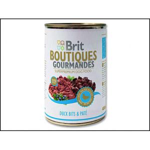 Konzerva BRIT Boutiques gourmandes duck bits & paté 400g