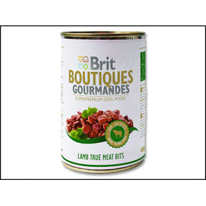 Konzerva BRIT Dog Boutiques Gourmandes Lamb True Meat Bits 400g