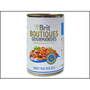 Konzerva BRIT Dog Boutiques Gourmandes Rabbit True Meat Bits 400g