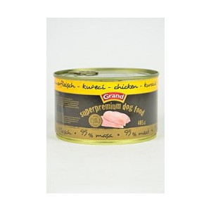 GRAND konzerva Superpremium pes drůbeží 405 g