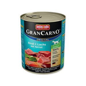 Konzerva ANIMONDA Gran carno hovězí, losos + špenát 800g