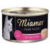 Konzerva MIAMOR Feine Filets kuře + rýže v želé 100g