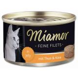 Konzerva MIAMOR Feine Filets tuňák + sýr v želé