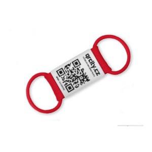 Chytrá známka QR PetTag Symbio červená 1ks