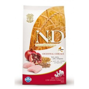 N&D Low Grain DOG Adult Maxi Chicken & Pomegranat 12 kg