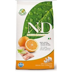 N&D Grain Free DOG Adult Fish & Orange 12kg (DOPRAVA ZDARMA)