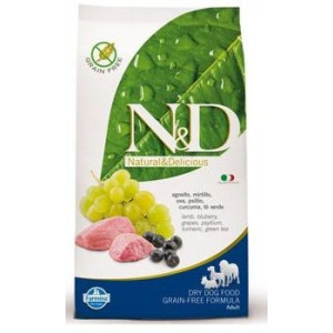 N&D Grain Free DOG Adult Lamb & Blueberry 12kg (DOPRAVA ZDARMA)