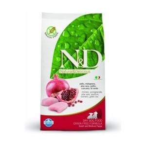 N&D Grain Free DOG Puppy S/M Chicken & Pomegr 12kg
