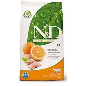 N&D Grain Free CAT Adult Fish & Orange 10kg (DOPRAVA ZDARMA)