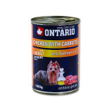 Konzerva ONTARIO Dog Chicken, Carrots and Salmon Oil 400g
