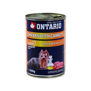 Konzerva ONTARIO chicken, carrots, salmon oil 400g