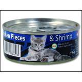 Konzerva ONTARIO Kitten Chicken Pieces + Shrimp