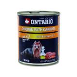Konzerva ONTARIO Dog Chicken, Carrots and Salmon Oil 800g