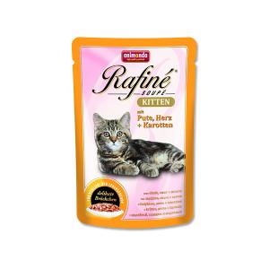 Kapsička ANIMONDA Rafine Soupe Kitten krůtí + srdce + mrkev 100g