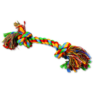 Uzel DOG FANTASY bavlněný barevný 2 knoty 30 cm 1ks
