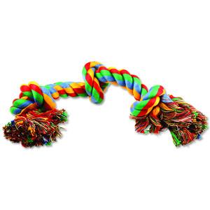 Uzel DOG FANTASY bavlněný barevný 3 knoty 40 cm 1ks