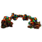 Uzel DOG FANTASY bavlněný barevný 4 knoty 60 cm 1ks