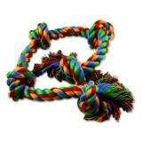 Uzel DOG FANTASY bavlněný barevný 5 knotů 95 cm 1ks