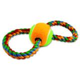 Přetahovadlo DOG FANTASY osmička barevné + tenisák 25 cm
