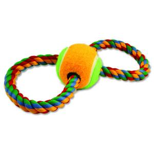 Přetahovadlo DOG FANTASY osmička barevné + tenisák 25 cm 1ks
