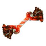 Uzel DOG FANTASY bavlněný oranžovo-bílý 2 knoty 20 cm 1ks