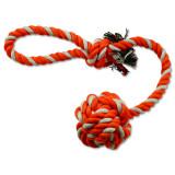 Přetahovadlo DOG FANTASY házecí oranžovo-bílé 45 cm 1ks