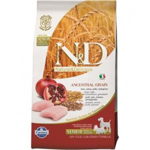 N&D Low Grain DOG Senior S/M Chicken & Pomegr 800 g