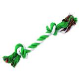 Uzel DOG FANTASY bavlněný zeleno-bílý 2 knoty 25 cm 1ks