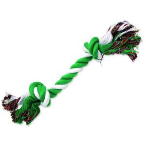Uzel DOG FANTASY bavlněný zeleno-bílý 2 knoty 30 cm 1ks