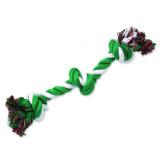 Uzel DOG FANTASY bavlněný zeleno-bílý 3 knoty 40 cm 1ks