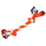 Uzel DOG FANTASY bavlněný oranžovo-bílý 2 knoty 25 cm 1ks