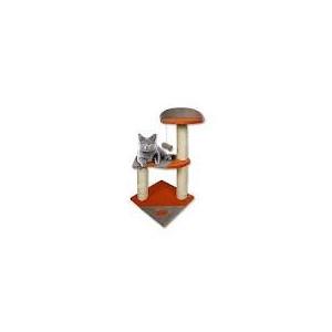 Škrábadlo Norma orange/šedá +rybička 35x35x75cm