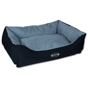 Pelíšek SCRUFFS Expedition Box Bed šedivý L 1ks