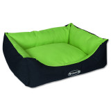 Pelíšek SCRUFFS Expedition Box Bed limetkový M 1ks