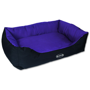 Pelíšek SCRUFFS Expedition Box Bed švestkový XL 1ks