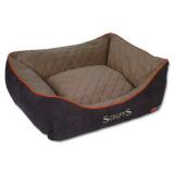 Pelíšek SCRUFFS Thermal Box Bed hnědý S 1ks