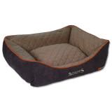 Pelíšek SCRUFFS Thermal Box Bed hnědý L