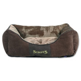 Pelíšek SCRUFFS Chester Box Bed čokoládový S