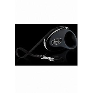 Vodítko FLEXI Collection M pásek 5m/25kg černá/černá