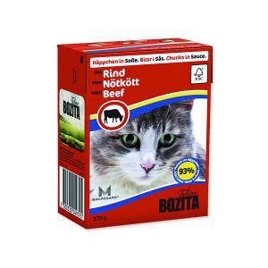 Kousky v omáčce BOZITA Cat s hovězím masem - Tetra Pak 370g