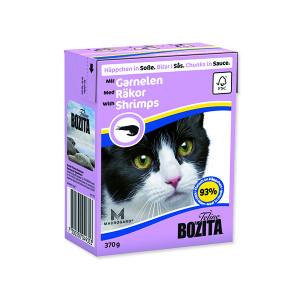 Kousky v omáčce BOZITA Cat s krevetami - Tetra Pak 370g
