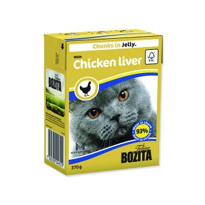 Kousky v želé BOZITA Cat s kuřecími játry - Tetra Pak 370g