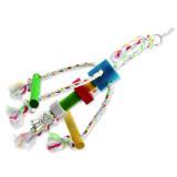 Hračka BIRD JEWEL chobotnička závěsná dřevo - provaz 29 cm 1ks