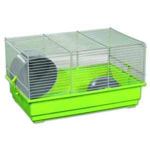 Klec SMALL ANIMALS Richard šedo-zelená se šedou výbavou 1ks
