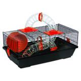 Klec SMALL ANIMALS Libor černá s červenou výbavou 1ks