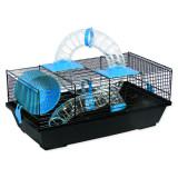 Klec SMALL ANIMALS Libor černá s modrou výbavou 1ks