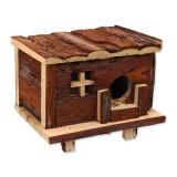Domek SMALL ANIMALS srub dřevěný s kůrou 18 x 13 x 13,5 cm 1ks